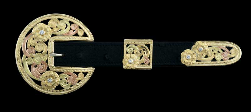 Lady's three-piece buckle