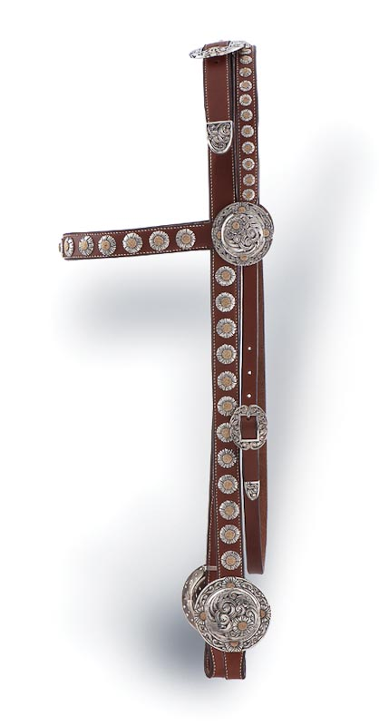 Silver-mounted headstall