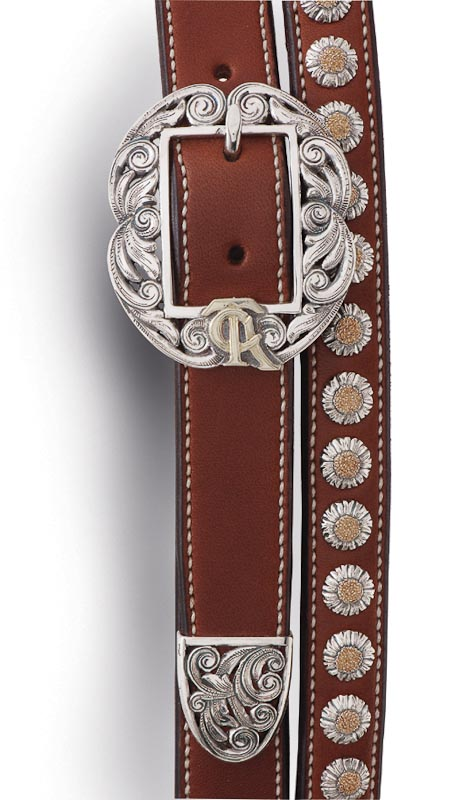 The two-piece sterling silver crown buckle
