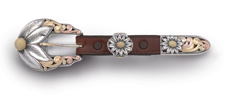 Lady's three-piece buckle set