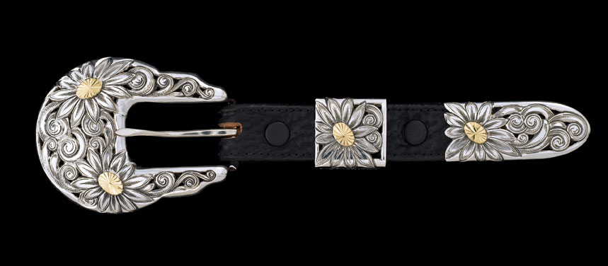 Three-piece buckle set