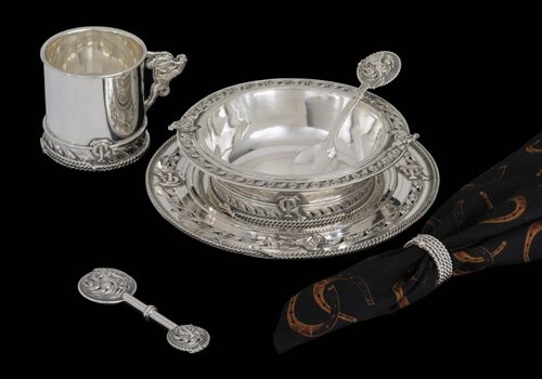Children's Silver Bowl Set